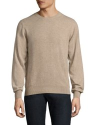 Luciano Barbera Solid Cashmere Sweater Tan