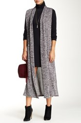 Blvd Heather Knit Duster Black