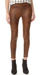 Free People Faux Leather Never Let Go Leggings Brown