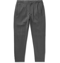 Ermenegildo Zegna Grey Slim Fit Cotton And Silk Blend Drawstring Trousers Gray