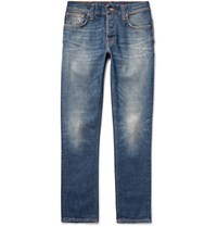 Nudie Jeans Grim Tim Slim Fit Selvedge Stretch Denim Jeans Blue