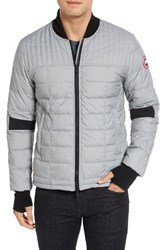 Canada Goose Men's Down Bomber Jacket Sterling Grey