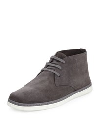 Ermenegildo Zegna Newport Perforated Suede Chukka Boot Gray