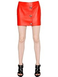 Versus Smooth Leather Mini Skirt