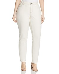 Eileen Fisher Plus Skinny Jeans In Undyed Natural 100 Exclusive