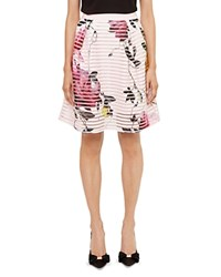 Ted Baker Osuza Citrus Bloom Mesh Skirt Pink