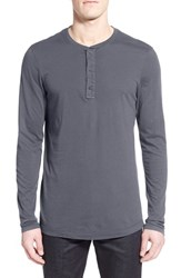 Men's Michael Stars Long Sleeve Henley Oxide