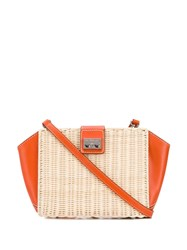 Rodo Two Tone Shoulder Bag Neutrals