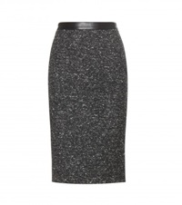 Givenchy Tweed Pencil Skirt Grey