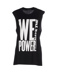 Blk Dnm Topwear Vests Women Black