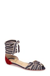 Christian Louboutin Women's Christervia Ankle Wrap Flat