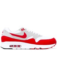 Nike Air Max 1 Ultra Trainers Men Cotton Suede Rubber 8.5 Red