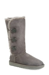Uggr Women's Ugg 'Bailey Button Triplet Ii' Boot Grey Suede