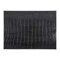 Amara Gator Recycled Leather Placemat Coal