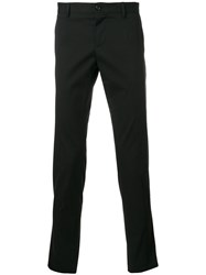 Dolce And Gabbana Trousers With Tuxedo Details Cotton Spandex Elastane Black