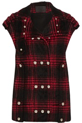 Alexander Wang Plaid Cotton Blend Vest