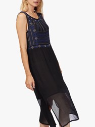Brora Embroidered Shift Dress Black