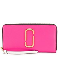 Marc Jacobs Snapshot Continental Wallet Pink And Purple