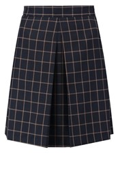 Louche Dayana Pleated Skirt Navy Dark Blue