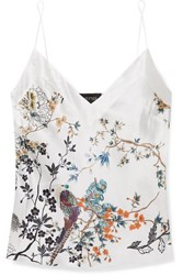 Meng Printed Silk Satin Camisole White
