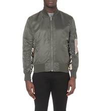Alpha Reversible Camouflage Bomber Jacket Rep Grey