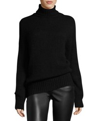 Ralph Lauren Cashmere Mohair Turtleneck Sweater Black