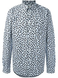 Paul Smith Ps By 'Mini Heart' Print Shirt White