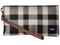 Kavu Clutch N Go Bw Plaid Clutch Handbags Black