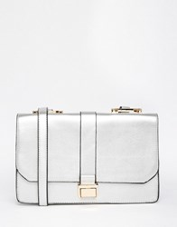 Liquorish Metallic Lady Shoulder Bag Silver