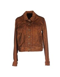 Plein Sud Jeanius Coats And Jackets Jackets Women Brown