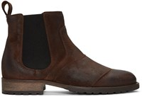 Belstaff Brown Burnished Suede Lancaster Chelsea Boots