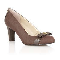 Lotus Gweny High Heel Court Shoes Brown