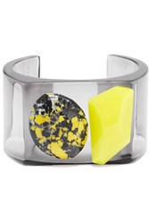Stella Mccartney Plexiglas And Reg And Resin Cuff Gray