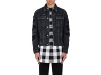 Helmut Lang Men's Cotton Distressed Trucker Jacket Black