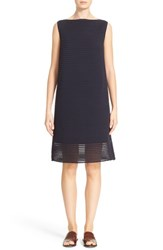 Lafayette 148 New York Women's Pleated Sheer Stripe Dress