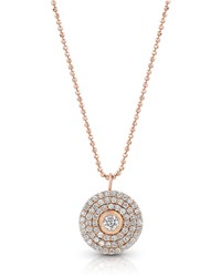 Dominique Cohen 18K Rose Gold Mosaic Diamond Pendant Necklace Medium