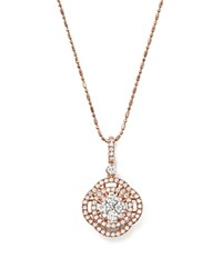 Bloomingdale's Diamond Circle Pendant Necklace In 14K Rose Gold 1.0 Ct. T.W.