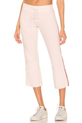 David Lerner Crop Flare Lounge Pant Pink