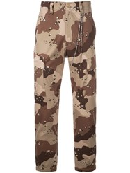 Mastermind World Camouflage Print Trousers Brown