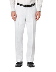 Perry Ellis Big And Tall Linen And Cotton Dress Pants Bright White