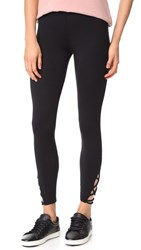 Riller And Fount Merle Leggings With Ankle Detail Black French Terry
