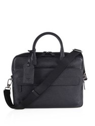 Giorgio Armani Leather Briefcase Dark Grey