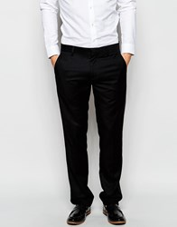 Antony Morato Tuxedo Suit Trousers With Faux Leather Binding In Slim Fit Black