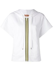 N 21 No21 Short Sleeve Zipped Hoodie White