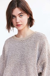 Silence And Noise Fluffy Pullover Sweatshirt Taupe