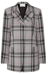 3.1 Phillip Lim Checked Twill Blazer Light Gray