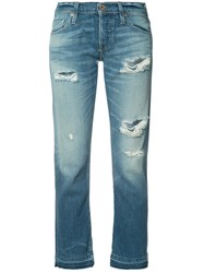 Nsf Ripped Cropped Jeans Blue