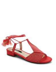 Kensie Katara Canvas Sandals Coral