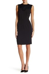 Alexia Admor Sleeveless Embroidered Lace Knit Dress Black