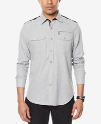 Sean John Men's Colorblocked Shirt Slate Gray